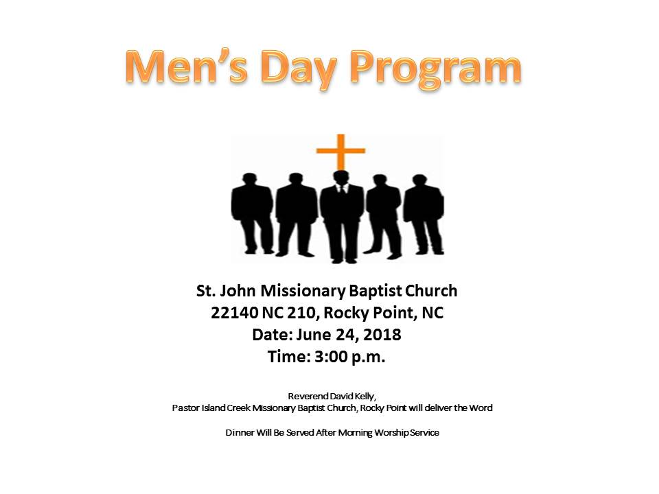 St  John MBC: Men's Day Program – Kenansville Eastern
